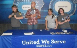 Sharing information about National Service before a Bon Jovi concert with my fellow VISTAs.